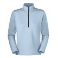 Mountain Hardwear W's Powerstretch Zip T 女款彈性排汗保暖上衣(OL0606, 水藍色)