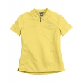 The North Face W GEO MESH BURSTALL POLO 女性短袖排汗POLO衫-水仙黃XS號 (五折出清)