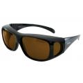 ADISI 偏光太陽眼鏡 ST-1393-深茶色 (三種鏡框可選、可同時配戴近視眼鏡)