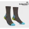 英國BRIDGEDALE HIKE LIGHTWEIGHT BOOT 女款 健行家 四季美麗諾中筒輕量襪 #710652-120 棕/萊姆黃