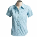 Cloudveil W Windknot Shirt 女性短袖排汗襯衫(藍色XS、S號/零碼出清)