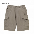 Craghoppers NosiLife Cargo Shorts 男性超輕防曬多口袋短褲- 灰色30吋 36吋/六折出清
