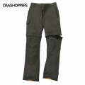 Craghoppers Kiwi Pro Stretch Convertible Trousers 男性奇威彈性快乾兩截褲-CMJ304R2AT 深卡其色