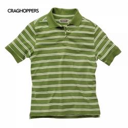 Craghoppers Raya Polo Shirt 男性防曬短袖POLO衫-綠格 五折出清