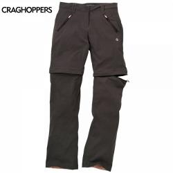 Craghoppers Kiwi Pro Stretch Convertible Trousers 女性奇威彈性快乾兩截褲-可可色12、14號 (六折出清)