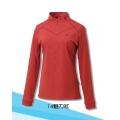 Fit Outdoor 女性抗UV吸濕排汗立領衫 GW2108-14 魅力紅