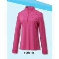 Fit Outdoor 女性抗UV吸濕排汗立領衫 GW2108-15 桃紅色