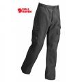Fjallraven Iceland Trousers 男性耐磨多口袋工作褲 81230-030 炭灰色