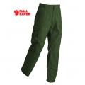 Fjallraven Iceland Trousers 男性耐磨多口袋工作褲 - 81230630 橄綠色