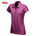 Fjallraven Goanna Top 女性短袖排汗POLO衫 - 89290358 亮桃紅色(S號七折出清)