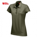 Fjallraven Goanna Top 女性短袖排汗POLO衫 - 89290633 深橄欖色(S號七折出清)