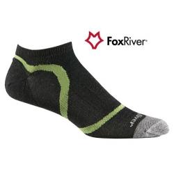 Fox River 1247 Ultra Light Velocity Ankle  VL超薄快乾無統跑步襪(黑綠色L號)