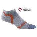 Fox River 1247 Ultra Light Velocity Ankle  VL超薄快乾無統跑步襪(灰橘色)