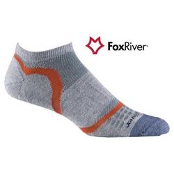 Fox River 1247 Ultra Light Velocity Ankle  VL超薄快乾無統跑步襪(灰橘色)