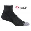 Fox River 1255 Velocity Quarter VL快乾吸震短統跑步襪(黑色)