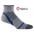 Fox River 1255 Velocity Quarter VL快乾吸震短統跑步襪(灰藍色)