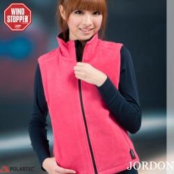 JORDON 女款 WIND+POLA防風保暖背心 #0620-3 桃紅L號