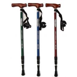 K2 三節木柄TT1避震健行登山杖