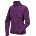 Lafuma LD GREENLIGHT 1/2 Zip Sweater  女性半門襟薄刷毛保暖上衣-LFV7222(梅紫色)