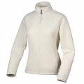 Lafuma LD GREENLIGHT 1/2 Zip Sweater  女性半門襟薄刷毛保暖上衣-LFV7222(乳白色)