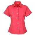 Lafuma LD TASSILI Shirt 女款 短袖排汗襯衫--桃紅S號 #LFV892/零碼三折出清