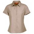 Lafuma LD TASSILI Shirt 女性短袖排汗襯衫--芋灰色S、XL號 #LFV8921/零碼三折出清