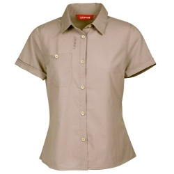 Lafuma LD TASSILI Shirt 女性短袖排汗襯衫-LFV8921(芋灰色)
