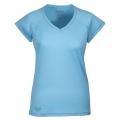 Lafuma LD JAU SHS Tee-shirt 女性V領短袖排汗上衣--淺藍 S號 #LFV8925/零碼4折出清
