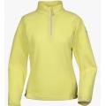 Lafuma LD GREENLIGHT TZIP 女性半門襟薄刷毛保暖上衣--醇黃 S、L、XL號 #LFV9338/過季五折出清