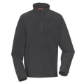 Lafuma GREENLIGHT 1/2 Zip Sweater  男性半門襟薄刷毛保暖上衣-LFV9397中灰色M號(七折出清)