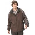 Litume 意都美 男性防潑水防風天鵝絨保暖外套 (P8692, 棕色)