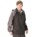 Litume 意都美 男性防潑水防風天鵝絨保暖外套 (P8692, 黑色L,XL號)