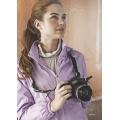 Litume意都美淑女薄天鵝絨保暖外套#P8902(粉紫 L、XL號)