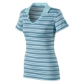 Millet MIV3701 LD Stripes Polo 女性POLO短袖條紋排汗衫(#4335, 藍色) 五折出清