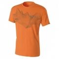 Millet MANASLU T-SHIRT SHORT SLEEVE 男性圓領短袖排汗衫--橘色M、L號 #MIV4478-5391/零碼五折出清