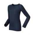 ODLO #10459-20900 兒童款圓領長袖機能保暖型排汗內衣(深藍)