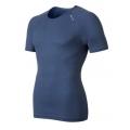 ODLO #140042 Shirt s/s CUBIC 男性銀纖維短袖排汗內衣(深藍色)