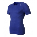 ODLO #140042 Shirt s/s CUBIC 男性銀纖維短袖排汗內衣(寶藍色)