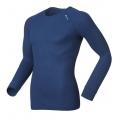 ODLO #140052 Shirt l/s CUBIC 男性銀纖維長袖排汗內衣(S號 海藍色)