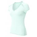 ODLO #140501 Shirt  CUBIC 女性銀纖維短袖V領排汗衫(淡藍色) 五折出清
