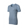 ODLO  Shirt s/s CUBIC TREND  男性銀纖維短袖排汗內衣#140692-22004-灰藍 M號 五折出清/運費另計
