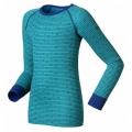ODLO #150409 兒童機能保暖型衛生衣褲套裝組(27911 , 藍綠線條140cm)
