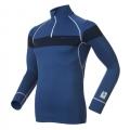 瑞士ODLO 男款銀離子長袖半門襟保暖排汗衣 150462-FIN14藍(發熱衣 衛生衣 保暖衣)