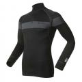 瑞士ODLO 男款銀離子長袖半門襟保暖排汗衣 150462-OLY14黑(發熱衣 衛生衣 保暖衣)