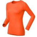 ODLO #152021-39300 女款圓領長袖機能保暖型排汗內衣 (桔色 L號)