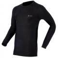 ODLO #152022 男圓領長袖機能保暖型排汗內衣(黑色L、2L)