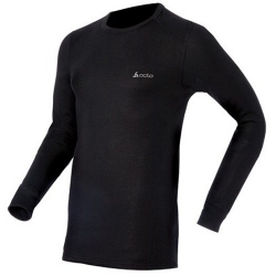 ODLO #152022 男款 圓領長袖機能保暖型排汗內衣--黑色L、2L號