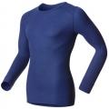 ODLO #152022 男圓領長袖機能保暖型排汗內衣(軍藍色)
