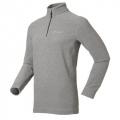 ODLO TIRANO #210502 男性超細纖維Micro Fleece半門襟保暖上衣(淺灰色S號 七折出清)
