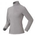 ODLO LENGGRIES #290221 女性超細纖維Micro Fleece半門襟長效保暖上衣(淺灰條S、L號 七折出清)